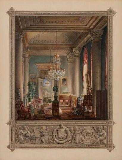 Hilaire THIERRY (actif entre 1800-1825) Intérieur...