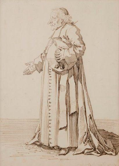 Pier Leone GHEZZI (Rome 1674 - 1755) Louis...