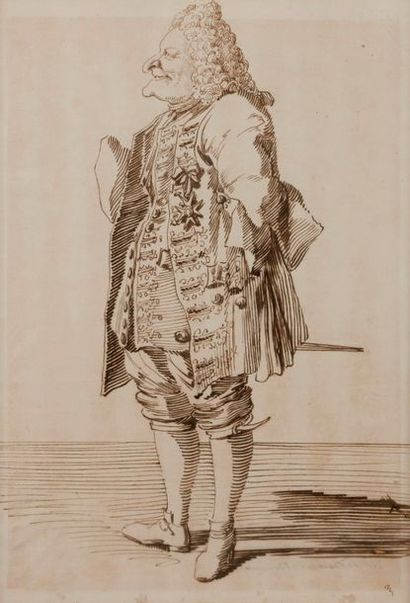 Pier Leone GHEZZI (Rome 1674 - 1755) Le...