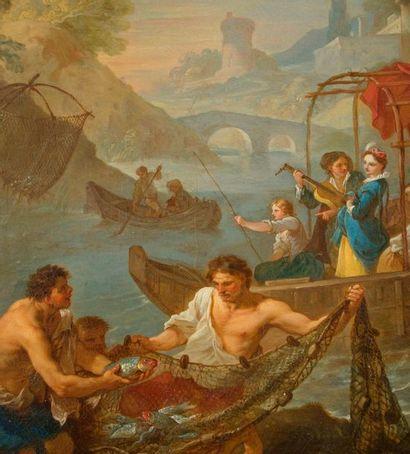 Charles Joseph NATOIRE (Nîmes 1700 - Castel Gandolfo 1777) La pêche Toile anciennement...