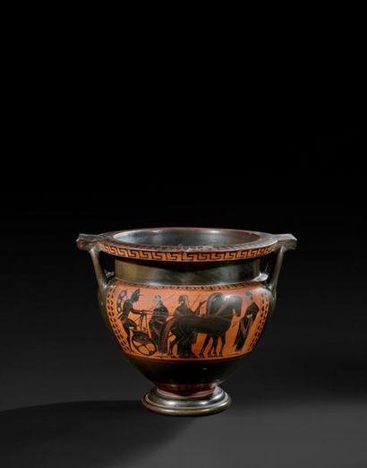 Attique, seconde moitié du VIe siècle av. J.-C., ca. 530 av. J.-C. Cratère à colonnes...