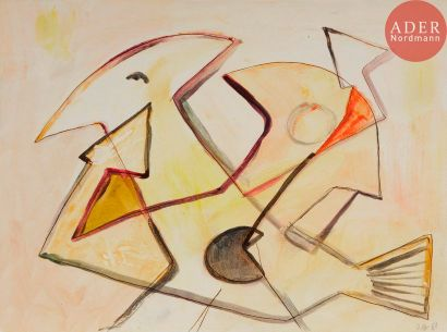 Roberto ALTMANN [cubain] (né en 1942) Oiseau,...