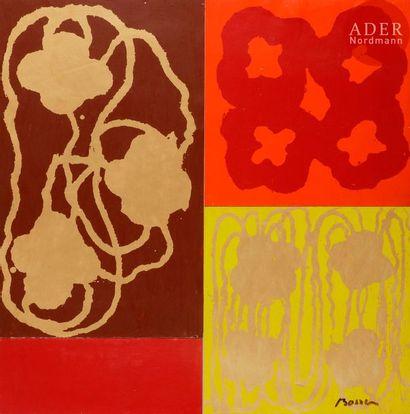 Jacques BOSSER (né en 1946) Composition Pigments...