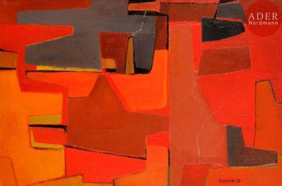 Marcel BOUQUETON (1921-2006) Rouge, 1953...