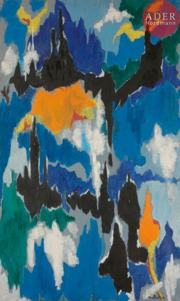 Marcel BURTIN (1902-1979) Composition Huile...
