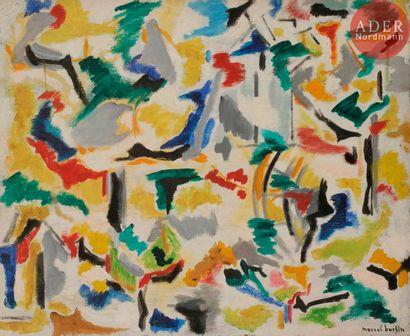 Marcel BURTIN (1902-1979) Composition, 1956-57...
