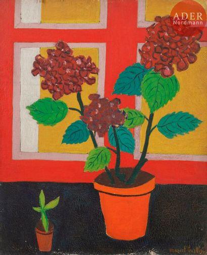 Marcel BURTIN (1902-1979) Pot de fleurs,...