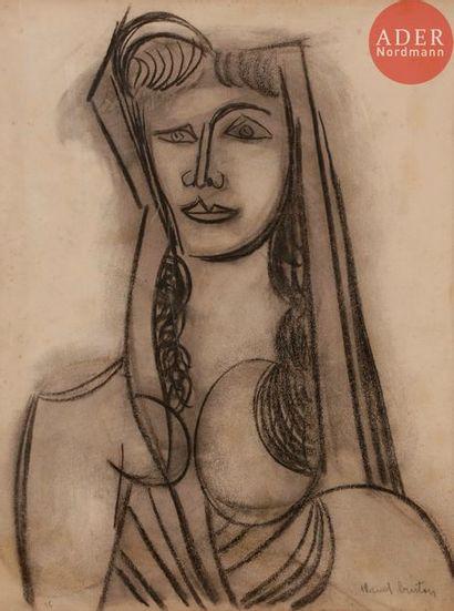 Marcel BURTIN (1902-1979) Buste de femme,...