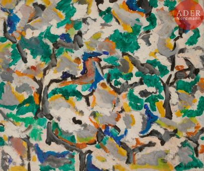 Marcel BURTIN (1902-1979) Composition, 1954...
