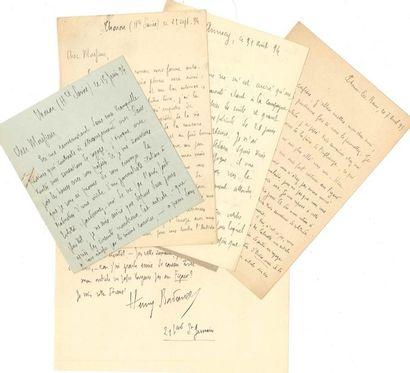 Henry BORDEAUX (1870-1963) écrivain. 90 L.A.S....