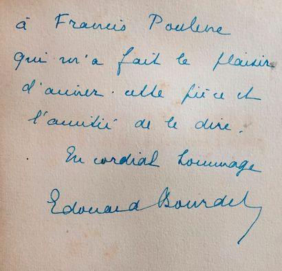 Edouard BOURDET. 3 ouvrages dédicacés à Francis...
