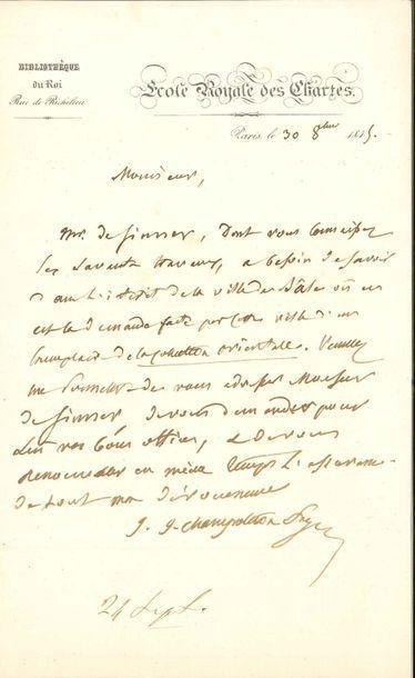 Jean-Jacques CHAMPOLLION-FIGEAC (1778-1867)...