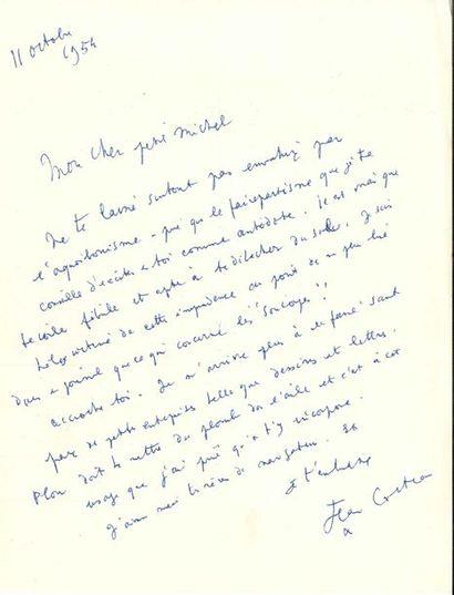 Jean COCTEAU. L.A.S., 11 octobre 1954, [à...