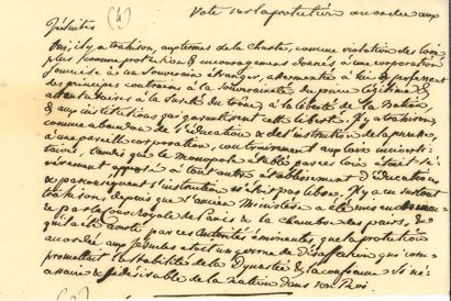 Benjamin CONSTANT (1767-1830). Manuscrit...