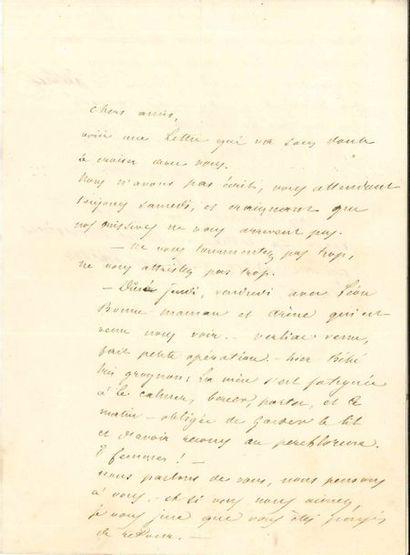 Alphonse DAUDET (1840-1897). 2 L.A.S. (la...