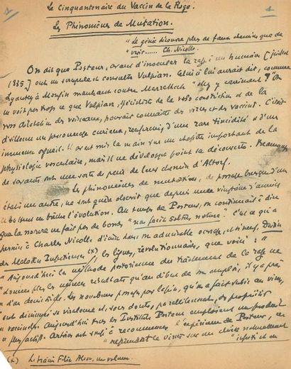 Léon DAUDET (1868-1942). Manuscrit autographe...