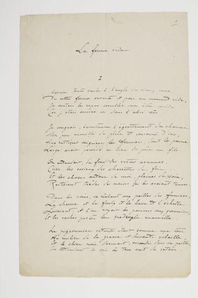 Lucie DELARUE-MARDRUS (1880-1945). Poème...