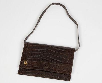 Christian DIOR, Made in France  Sac en cuir...