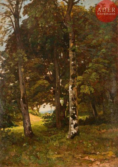 Henri Joseph HARPIGNIES (1819-1916) Sous-bois,...