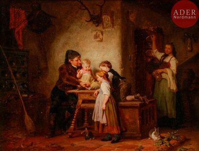 Felix SCHLESINGER (1833-1910) La Famille...