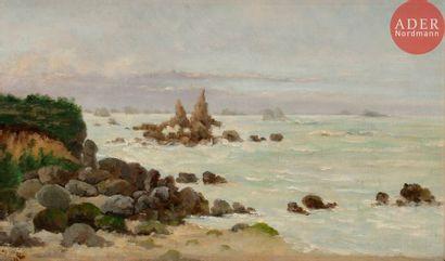 Léon Gustave RAVANNE (1854-1904) Bord de...