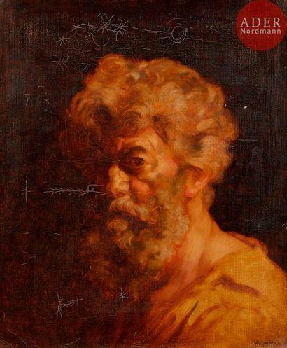 Louis ANQUETIN (1861-1932) Autoportrait Huile...