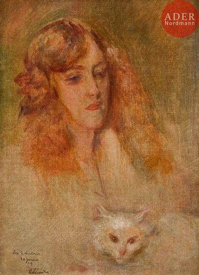 Charles LEANDRE (1862-1934) Les Deux Chatons...