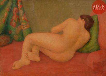*Émile LEJEUNE (1885-1964) Nu couché de dos...