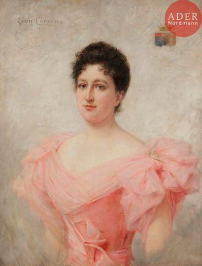 Léon François COMERRE (1850-1916) Femme en...