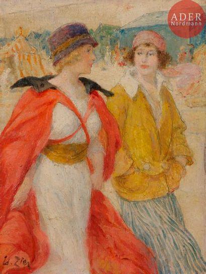EDOUARD FRANÇOIS ZIER (1856-1924) DEUX FEMMES...