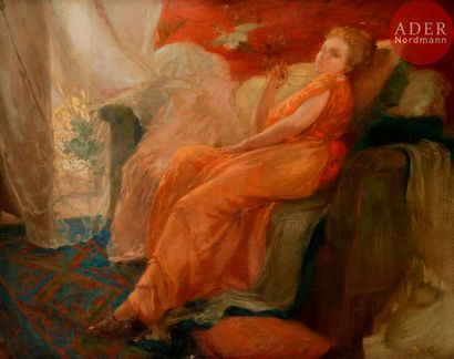 Henry Émile VOLLET (1861-1945) Femme dans...