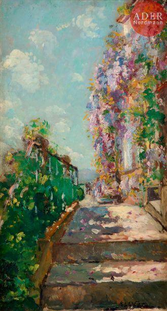 Emmanuel de LA VILLEON (1858-1944) Glycine...