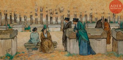 Léopold LELEE (1872-1947) Les Alyscamps,...