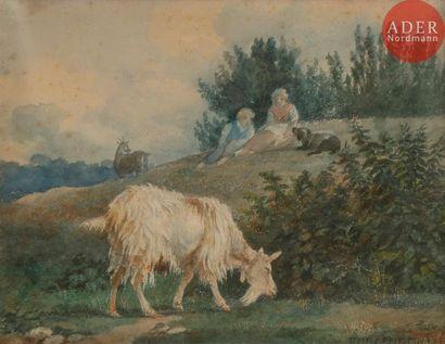 Rosa BONHEUR (1822-1899) Bergers et leurs...