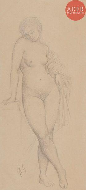 Jean-Léon GÉRÔME (1824-1904) Étude de femme...