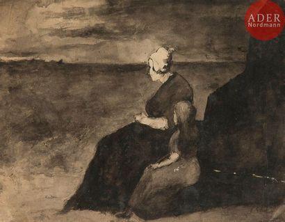 Théodule Augustin RIBOT (1823-1891) Femme...