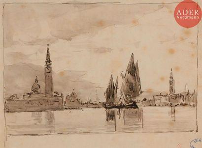 Amédée ROSIER (1831-1898) Venise, le Grand...
