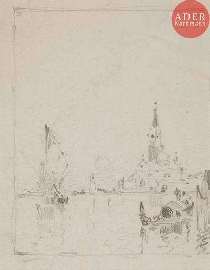 Amédée ROSIER (1831-1898) Venise, gondolier...