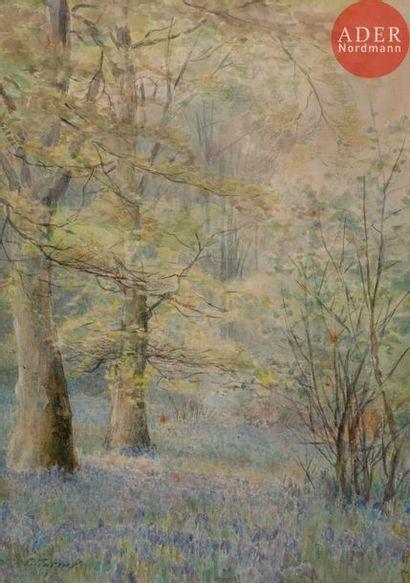 Ross Sterling TURNER (1847-1915) Sous-bois...