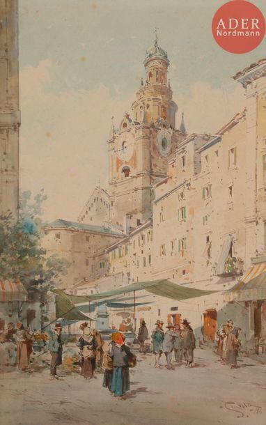 Emmanuel COSTA (1833-1921) San Remo, place...