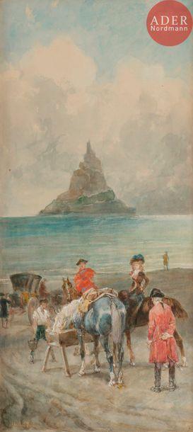 John LEWIS BROWN (1829-1890) La Halte des...