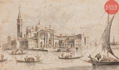 Giacomo GUARDI (1764-1835) Venise, l'île...