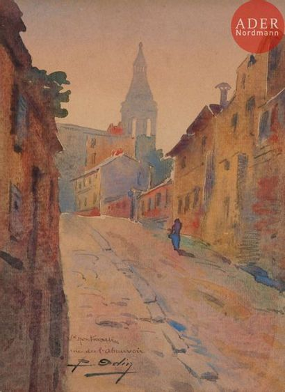 Blanche ODIN (1865-1957) Vieux Montmartre,...