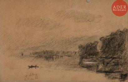 Albert LEBOURG (1849-1928) Bord de Seine...