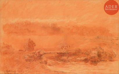 Albert LEBOURG (1849-1928) Paysage à Saint-Pair,...