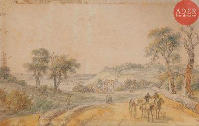 Georges MICHEL (1763-1843) Paysage aux environs...