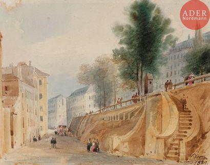 Eugène CICÉRI (1813-1890) Remblais sur les...