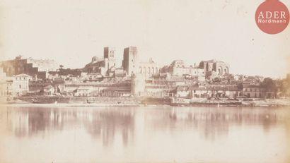 Édouard Baldus (1813-1889) Remparts d'Avignon,...