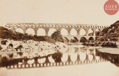 Édouard Baldus (1813-1889) Pont du Gard,...