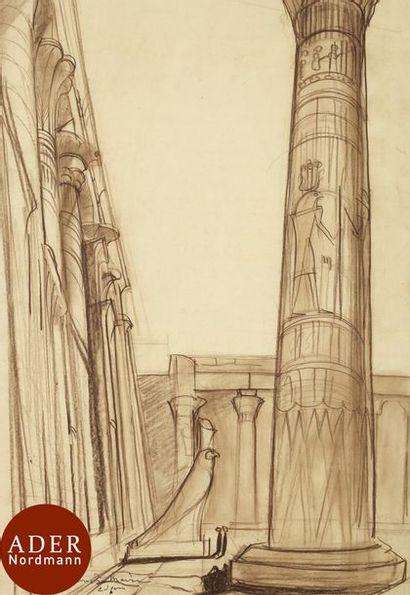 André MAIRE (1898-1984) Égypte, temple d'Horus...